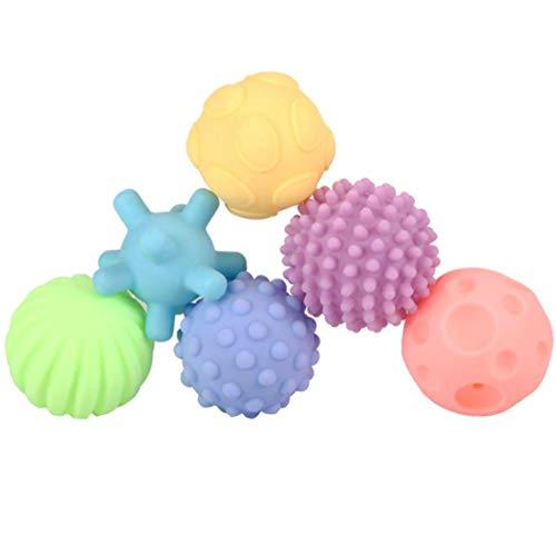 Boules Sensorielles Pour Bébé En Silicone Massage Doux Balle Rainbow Kids Bath Toys 6 Coloré Souple Et Squeeze Toy Sensorielle Pour Bébés Et Tout-petits