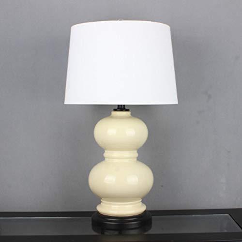 Keramische tafellamp pompoen wit leeslamp met lampenkap van solide keramiek Jingdezhen bureaulamp in de slaapkamer