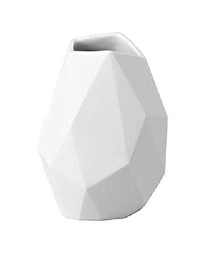 Rosenthal 14270-100102-26009 Miniaturvase Surface aus weißem Porzellan, Höhe 9 cm
