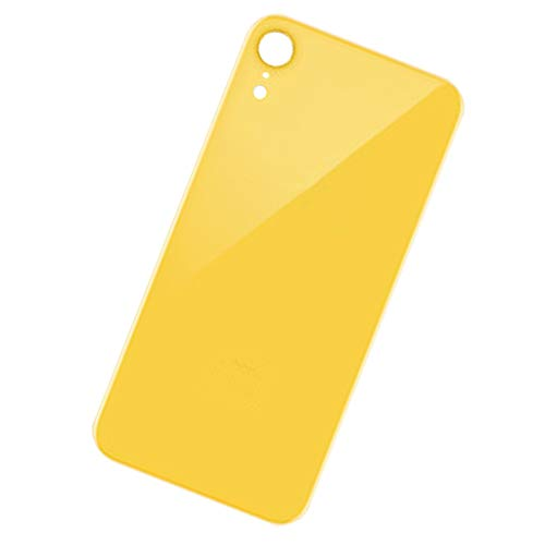 Almencla Replacement Back Glass Cover Back Battery Door,Best Version for Apple iPhone XR Models - Yellow