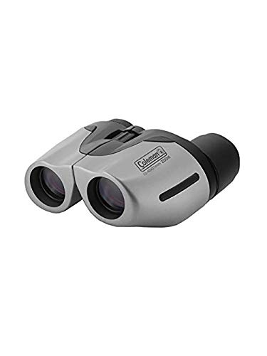Coleman 10-40x21 Compact Weather Resistant Porro Prism Zoom Binocular with 2.0-0.9 Degree Angle of View, Gray