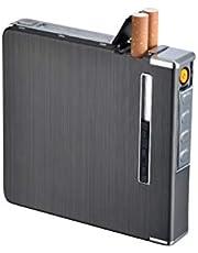 WLPTION - Portasigarette con accendini, porta sigarette, porta sigarette multifunzione, ricaricabile elettronica, a prova di umidità