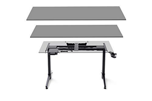 Robas Lund Schreibtisch Gestell elektisch höhenverstellbar DX Racer 7 Gaming Tisch Untergestell, Schwarz, BxHxT 140 x 73-123 x 40 cm