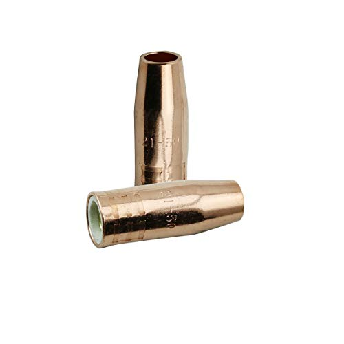 WeldingCity 2-pk Gas Nozzle 21-50-F (Flush Tip) 1/2