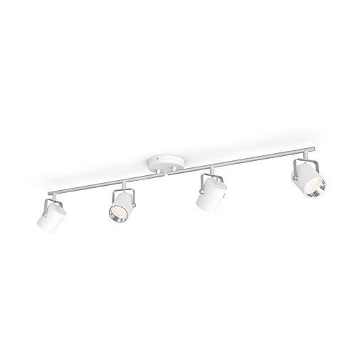PHILIPS myLiving, 4 sztuki Byre LED SceneSwitch biały z metalu, ciepła biel neutralna biel ściemniana z istniejącym włącznikiem