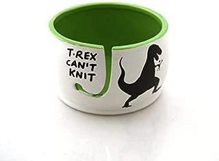 t rex yarn knitting bowl
