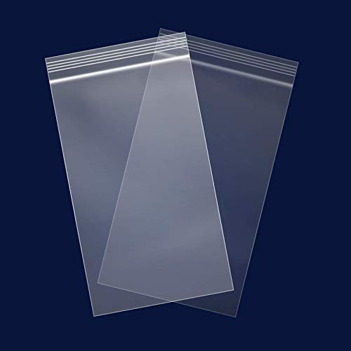"""100 Count - 4"""" x 6"""", 2 Mil Clear Plastic Reclosable Zip Poly Bags with Resealable Lock Seal Zipper for Photo, Jewelry, Bakery, Treats, Party Favors"""