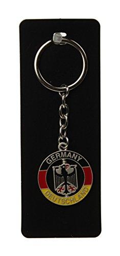 Schlüsselanhänger Deutschland / Germany Rund schwarz/rot/gold