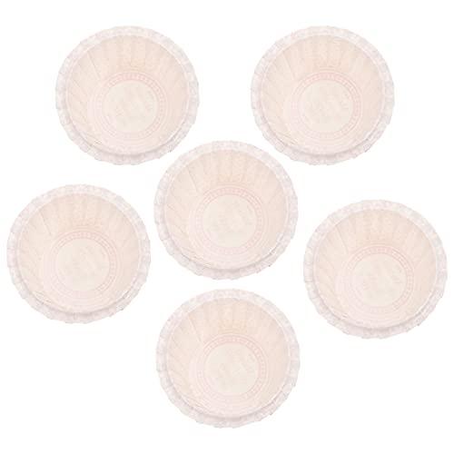 HEMOTON 50 Pzas Tazas Desechables para Hornear Magdalenas de Papel Soportes para Pudín Resistente Calor Revestimiento Redondo para Tartas de Crema Brulee Molde para Postres Sartenes