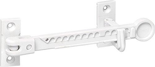 ABUS Fensterfeststeller Nino Zuschlagschutz für Kippfenster - Fensterriegel - Kipp-Regler zur Einstellung der Fensteröffnung - weiß - 73127