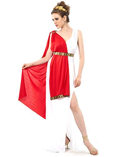 Vegaoo - Disfraz de Diosa Romana Toga roja para Mujer - M