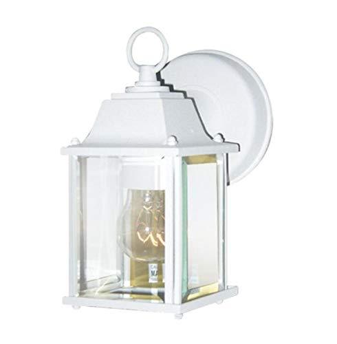 Woodbridge Lighting 60000-WHP 1-Light Outdoor Sconce, Powder Coat White