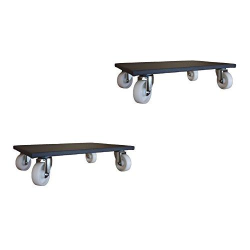 2 Stück Möbelroller 400x600 mm Allzweckroller Transportroller Rollbrett 500 kg