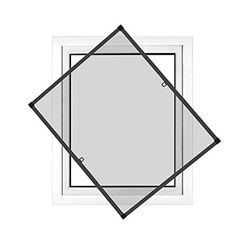 jarolift Profi Line Zanzariera con telaio per finestra - Zanzariera di alta qualità - telaio in alluminio - 120 x 150 cm antracite - zanzariera fai da te montabile senza fori