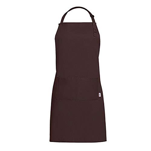 GLGSHOULIAN Tablier Femme,Dames Brun Mode Tout-Match Tablier Home Kitchen Chef Tabliers 100% Coton Lady Tablier Restaurant Cuisine Cuisson Robe Mode Tablier Réglable avec Poches