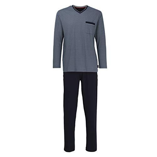 Bugatti Herren Pyjama blau Bedruckt 1er Pack 54