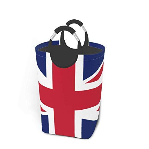 IUBBKI Union Jack Flag Gran contenedor de Almacenamiento Impermeable cesto de lavandería Organizador Cesta Chico cesto para Tela bebé Juguetes de guardería
