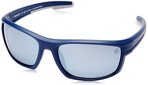 Timberland heren TB9171 zonnebril, blauw (mat blauw/smoke polarized), 63