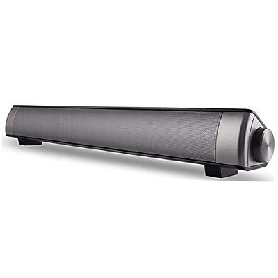ASIYUN Soundbar 10W Wireless Bluetooth Speaker Super Bass Stereo Loudspeaker Long-standby Black Speakers for Phone TV
