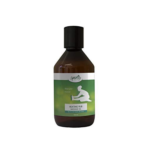 Wärmendes Öl gegen Muskelverspannungen I 100% BIO Serum mit ätherischen Ölen 100ml I Hilft auch bei Muskelkater und Muskelverhärtungen I Effektive & Sofortige Wirkung