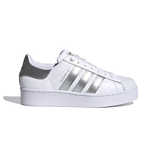 adidas Superstar Bold W - Zapatillas deportivas para mujer, color blanco, 39 1/3