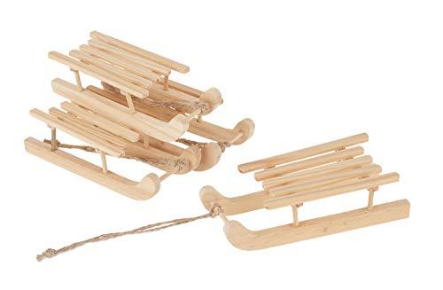 VBS Miniatur-Schlitten Delme 4 Stück aus Holz Deko