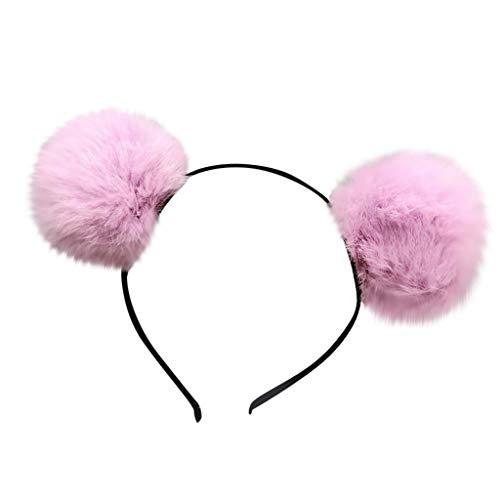 Stirnband Girls Bärenohren Stirnband Kaninchenfell Hair Head Hoop Sweet Lovely Glitzer Ohren Stirnbänder Katzen Haar Reifen Spangen für Party und tägliche tragen Hochzeit Muttertag