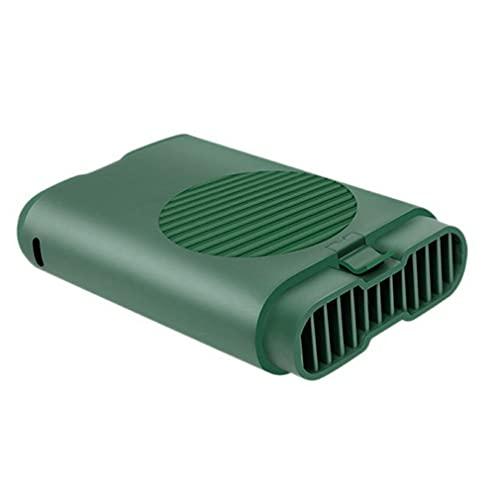 Nsdsb M8 Mini Ventilador De Cuello Colgante Portátil USB Hang Free Wearable Ventilador De Cintura De Mano Verde