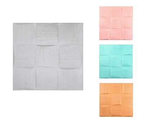 3D Tapete Wandpaneele selbstklebend - Moderne Wandverkleidung in Steinoptik in 4 verschiedenen Farben - schnelle & leichte Montage (6x Stück, Türkis)