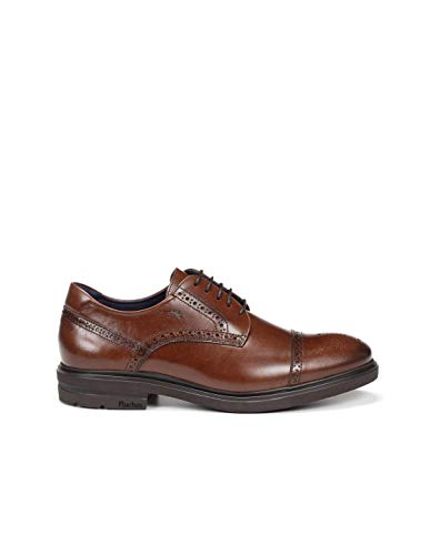 Fluchos | Vestir de Hombre | BELGAS F0629 Sierra Castaño Zapato de Vestir | Vestir de Piel de Vacuno de Primera Calidad | Cierre con Cordones | Piso EVA