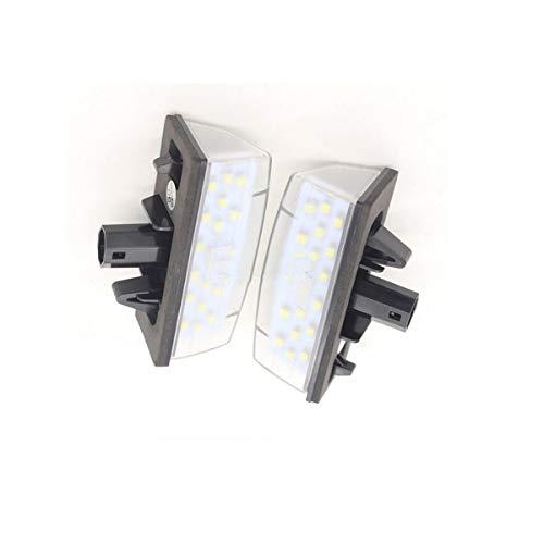 GOFORJUMP 2X Plaque d'immatriculation de la Voiture LED Allume Le kit d'ampoule de Lampe de Plaque d'immatriculation de 12V SMD3528 LED pour T/otota P/rius Z / VW30 V/Enza M/atrix pour L/EXUS CT200H