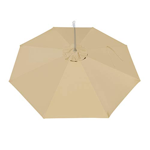 BenefitUSA Replacement Umbrella Canopy for 10ft 8 ribs (Canopy Only) (Beige)
