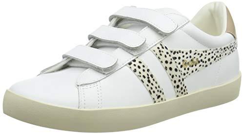 Gola Nova Velcro Safari, Zapatillas Mujer, Blanco Cheetah Nude, 37 EU