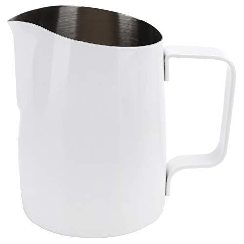 Taza de espuma, taza de café con leche de mano de 420 ml, jarras de jarra de leche espresso de acero inoxidable para arte latte