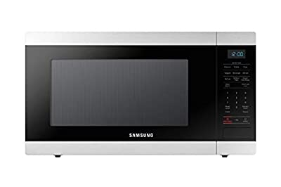 SAMSUNG Countertop Microwave Oven with 1.9 Cu. Ft. Capacity - Smart Sensor, Easy to Clean Interior, 950 Watts of Power, Auto Defrost, Child Safety Lock - Stainless Steel - MS19N7000AS/AA