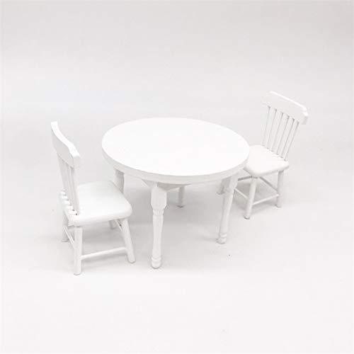 lamta1k Puppenhaus Tisch & Stuhl,1/12 Miniatur Puppenhaus Esstisch Stühle Küchenmöbel Dekor Kinderspielzeug