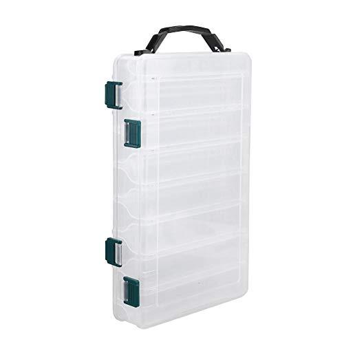 Kunststof kunstaas koffer, dubbelzijdig waterdicht zichtbaar plastic duidelijk vissen lokaas haken viszak accessoire opbergdoos doos container