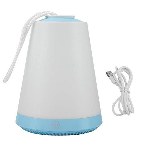 Lichtaanraaklamp, USB-laadstation Kleurrijke LED Volcano Light Touch Control SOS multifunctionele lamp met magneet (blauw)