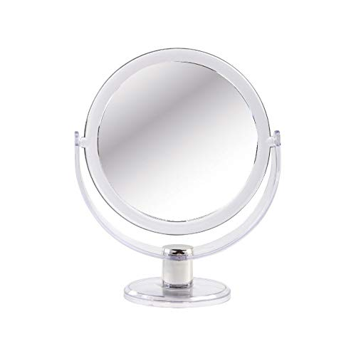 Sanjo clair Miroir acrylique 14 cm. True et 2 x Grossissement