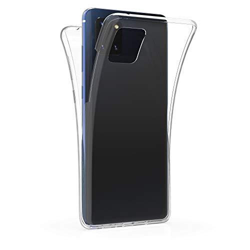 kwmobile Schutzhülle kompatibel mit Samsung Galaxy Note 10 Lite - Hülle Silikon Komplettschutz - Handy Cover Hülle Transparent