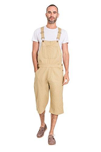 USKEES Loose fit Herren Latzhose Overall Shorts - Sand Latz Shorts CHRISTOPHERSHORTSPONGE-38W
