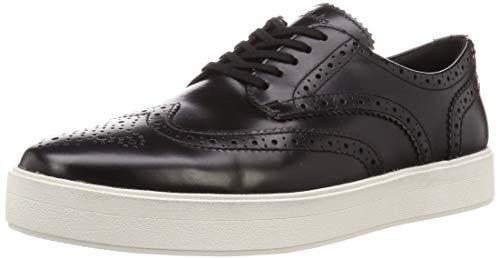 Clarks Hero Limit, Zapatos de Cordones Derby para Hombre, Negro (Black Leather Black Leather), 43 EU
