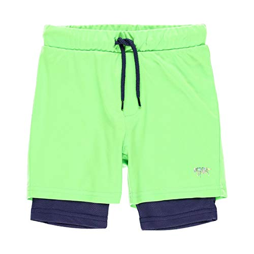 boboli - Bermuda de Deporte Niño de Punto, Talla 7 Años | Pantalones Deportivos, 100% Algodón | Bermudas niños | Bermudas Deportivas | Estampados | Verde- Azul