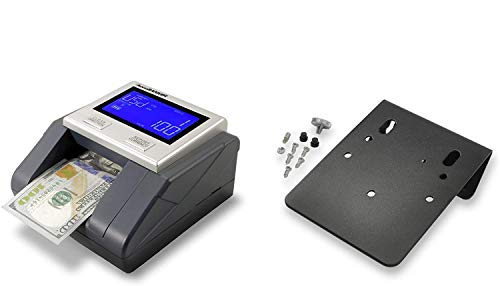 AccuBANKER D585 Multi-Scanix Counterfeit Currency Detector With AccuSTAND - Multi-Orientation Feeding System, Banknote Verification, Multi-Currency Detection (USD, EUR, GBP), Visual and Audible Alerts