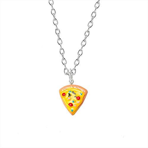 JIAORLEI Juego de 6 Piezas BFF Pizza Colgante Joyas Gargantilla Collar de Amistad para Siempre Mejor Amigo para un Amigo Regalo de cumpleaños Venta al por Menor y al por Mayor