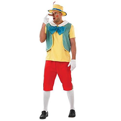 Fun Shack Rojo Marioneta De Madera Disfraz para Hombres - L