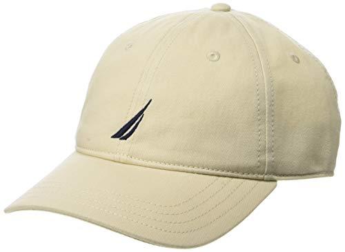 Nautica Herren Classic Logo Adjustable Baseball Cap, Oat, Einheitsgröße