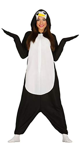 Guirca- Disfraz adulta pijama pingüino, Talla 38-40 (84939.0)