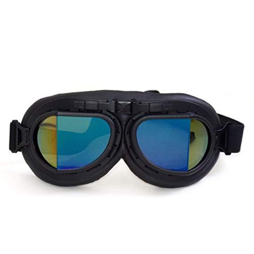 Marco de la motocicleta gafas a prueba de viento a prueba de polvo Negro retro de los vidrios del montar a caballo de la moto Vespa bici de la suciedad skiboard gafas de sol lzpff