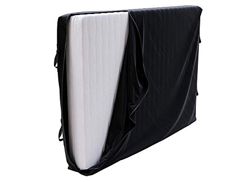 Dreamzie Protective Cover for Storing and Moving Mattresses 135x190 x 25 cm - 135x190 cm Bed - with 4 Handles and a Zip - Full Mattress Covers for Waterproof Storage, Mattress Protector Bag
